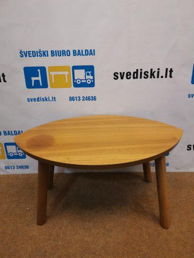 Ikea Stockholm Riešutmedžio Staliukas Lapo Formos Su Dėme, Švedija