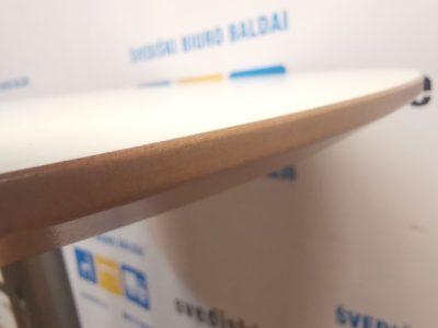 Ikea Billsta Apvalus Baro Stalas Su Baltu 70cm Skersmens Stalviršiu , Švedija