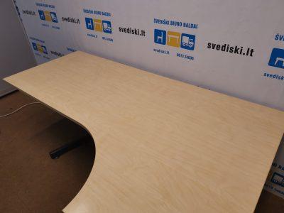 Swedstyle Elektra Reguliuojamas Stalas Su Dešininiu 200x120cm Stalviršiu, Švedija