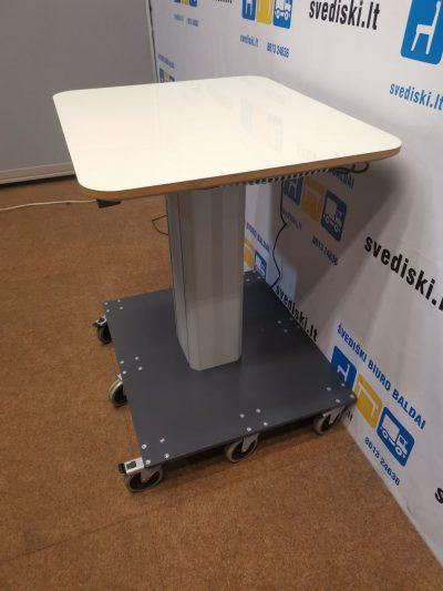 Swedstyle Reguliuojamo Aukščio Stovas Su 8 Ratukais Ir 60x70cm Baltu Stalviršiu, Švedija