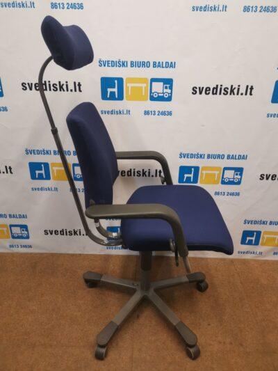 HAG Credo Mėlyna Biuro Kėdė Su Galvos Atrama Ir Porankiais, Švedija