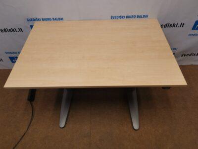 EFG Elektra Reguliuojamas Pilkas Stalo Mechanizmas Su LMDP 120x80cm Stalviršiu, Švedija