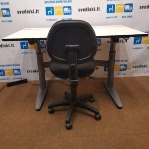 Komplektas EFG Elektra Reguliuojamas Stalas Su Baltu Stalviršiu Ir Team Biuro Kėdė, Švedija