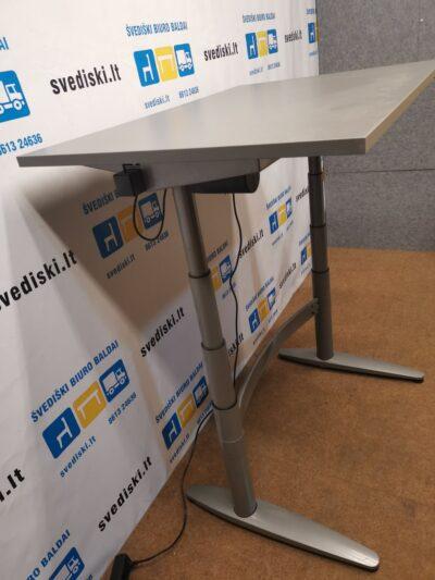 EFG Elektra Reguliuojamas Pilkas Stalo Mechanizmas Su Antracito 120x80cm Stalviršiu, Švedija