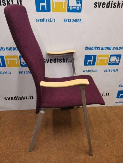 Klaessons Fjugesta Violetinė Lankytojo Kėdė Su Beržo Porankiais, Švedija