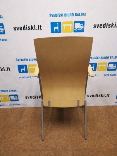 Klaessons Fjugesta Lankytojo Kėdė Su Beržo Nugaros Atrama Ir Porankiais, Švedija
