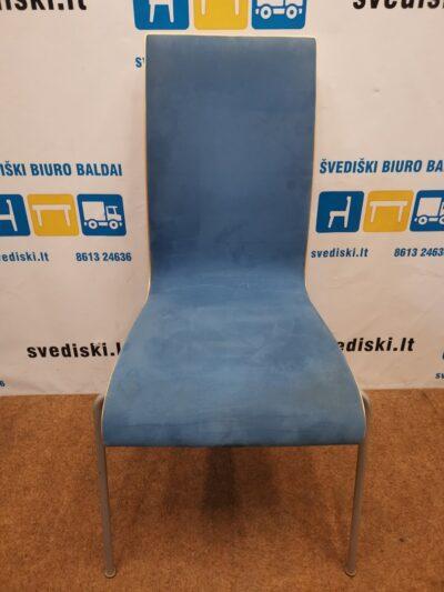 Melsva Lankytojo Kėdė Su Alcantara Audiniu Ir Pilku Metaliniu Rėmu, Švedija
