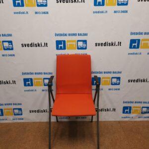 Isku Rudolf Oranžinė Lankytojo kėdė Su Porankiais, Švedija