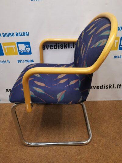Tua Tibro Marga Lankytojo Kėdė Su Chromuotu Rėmu Ir Buko Porankiais, Švedija