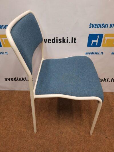 Lectus Mėlyna Kėdė Su Baltu Rėmu, Švedija