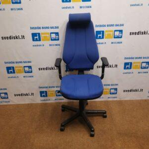 RH Logic 4 Mėlyna Biuro Kėdė Su Reguliuojamo Aukščio Porankiais, Švedija