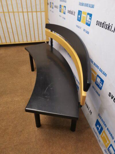 Juodas Medinis Suolas 175cm Ilgio, Švedija