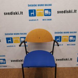 EFG Liisa Kėdė Su Mėlynu Audiniu Ir Juodu Rėmu, Švedija