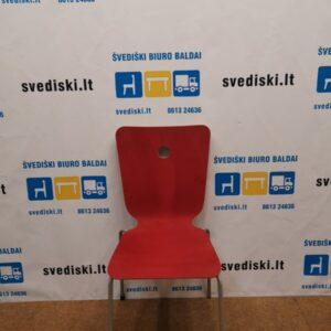 Jai Design Raudona Kėdė Su Buko Nugaros Atrama, Švedija