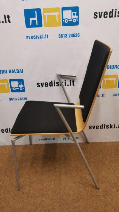 Mod Art Design Kėdė Su Juodu Audiniu Ir Porankiais, Švedija