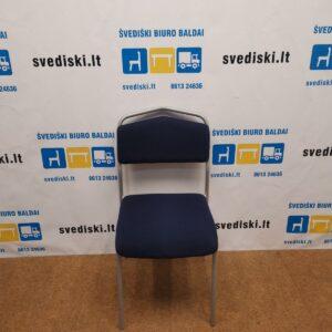 Ikea Sarna Mėlyna Lankytojo Kėdė Su Pilku Rėmu, Švedija