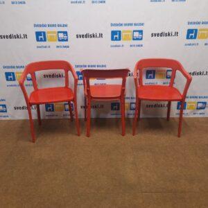 3 Steelwood Magis Raudonos Kėdės, Švedija