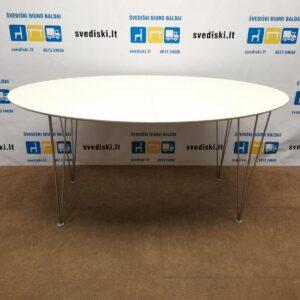 Baltas Ovalus Prailginamas Konferencinis Stalas, Švedija