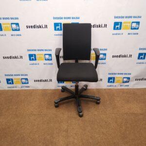 HAG H04 Juoda Biuro Kėdė Su Reguliuojamais Porankiais, Švedija
