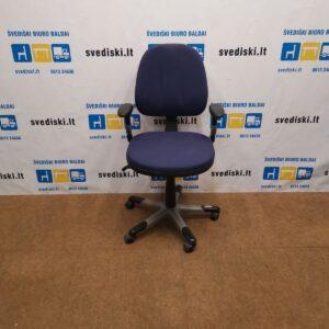 RH Logic 3 Mėlyna Biuro Kėdė Su Reguliuojamais Porankiais, Švedija