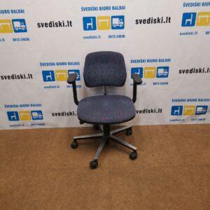 Vintažinė Biuro Kėdė Su Reguliuojamo Aukščio Porankiais, Švedija