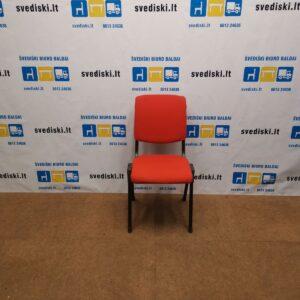 HAG Conventio 9520 Oranžinė Lankytojo Kėdė Su Juodu Rėmu, Švedija