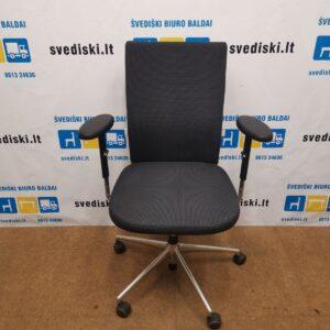 Vitra ID Soft Citterio Juoda Biuro Kėdė Su 3D Porankiais, Šveicarija