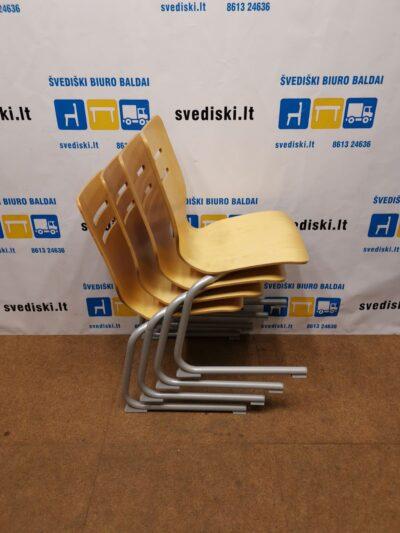 Beržo Lankytojo Kėdė Su Aukšta Nugaros Atrama, Švedija