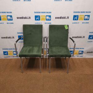 2 Modart Design Žali Foteliai su Alkantaros Audiniu, Švedija