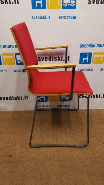 Isku Minus Raudona Lankytojo kėdė Su Buko Porankiais, Švedija