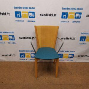 Scandiform Beržo Kėdė Su Aukšta Nugaros Atrama, Švedija