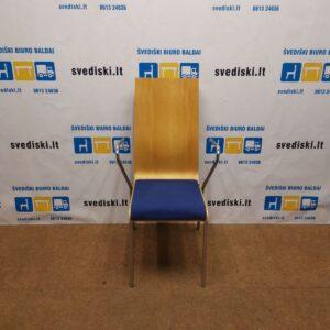 Mitab Kėdė Su Mėlynu Veltinio Audiniu, Švedija
