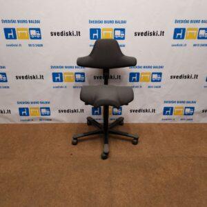 HAG Capisco Tamsiai Pilka Biuro Kėdė 44-58cm Aukščio, Švedija