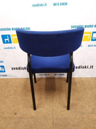 Lammhults Mobel AB Su Mėlynu Audiniu Lankytojo Kėdė, Švedija