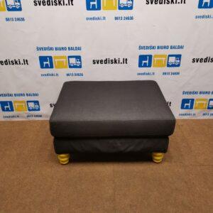 Ikea Carb P2 Pufas Su Tamsiai Pilku Audiniu, Švedija
