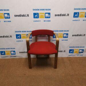Vilka Kėdė Su Raudonu Audiniu 1980m Stilius, Švedija