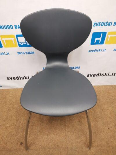 IKS Design Juoda Kėdė Su Chromuotu Rėmu, Italija