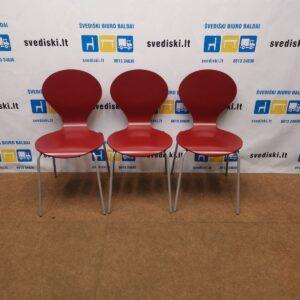 Danerka Rondo Raudona Kėdė Su Pilku Rėmu, Danija
