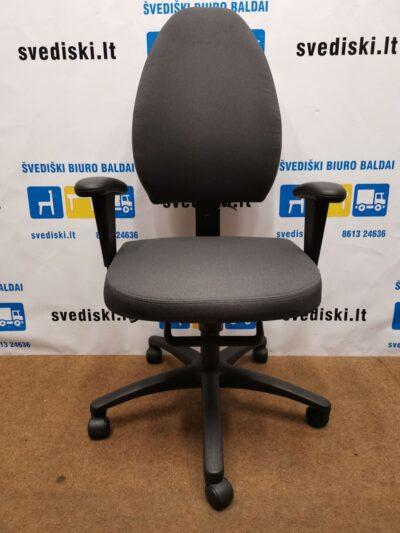 EFG Allegro Tamsiai Pilka Biuro Kėdė Su Reguliuojamais Porankiais, Švedija