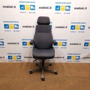 Be-Ge 9080 Tamsiai Pilka Biuro Kėdė Su Reguliuojamais Porankiais, Švedija
