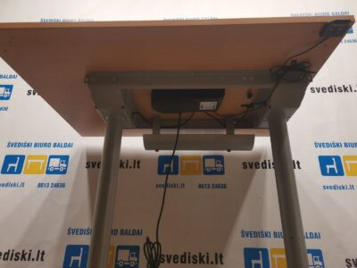 LINAK Elektra Reguliuojamas Stalas Su Buko 100x80cm Stalviršiu, Švedija