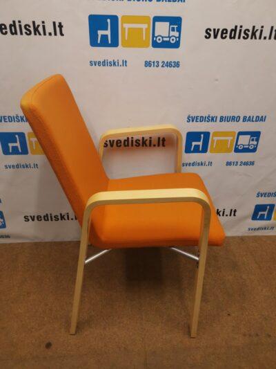Skandiform Lankytojo Kėdė Su Oranžiniu Audiniu, Švedija