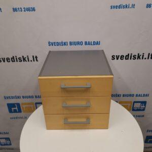Martela Beržo 3 Stalčių Dėžutė Su Pilku Korpusu, Švedija