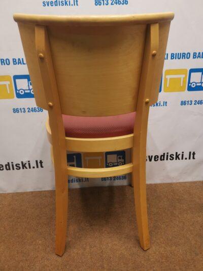 Offecct Beržo Lankytojo Kėdė Su Raudona Perforuota Oda, Švedija