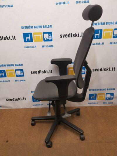 Hoganas Plus 381S Tamsiai Pilka Biuro Kėdė Su Reguliuojamais Porankiais, Švedija