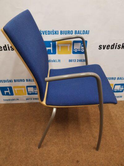 Tamsiai Mėlyna Lankytojo Kėdė Su Porankiais, Švedija