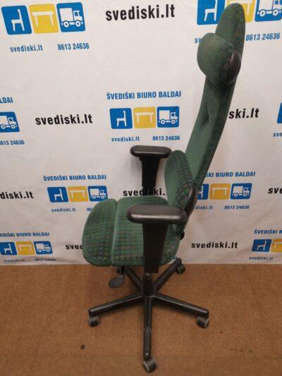Sun-Flex Žalia Ergonomiška Kėdė Su Reguliuojamais Porankiais, Švedija