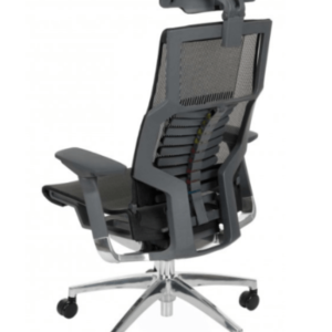 Nauja Juoda Ergonomiška Biuro Kėdė Pofit Su Tinkleliu 5D Galvos Atrama Ir 3D Porankiais