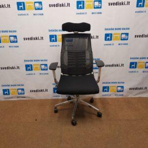 Nauja Juoda| Balta Ergonomiška Biuro Kėdė Pofit Su 5D Galvos Atrama Ir 3D Porankiais