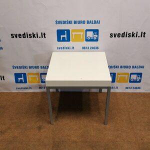 Ikea Baltas Staliukas Su Metalinėmis Kojomis, Švedija
